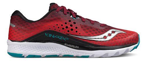 Mens Saucony Kinvara 8 Running Shoe - Red/Black/Teal 14
