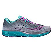Womens Saucony Kinvara 8 Running Shoe - Grey/Teal 6