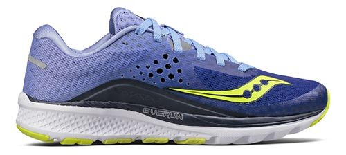 Womens Saucony Kinvara 8 Running Shoe - Navy/Purple 7.5