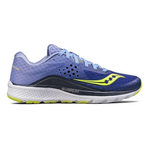 Womens Saucony Kinvara 8 Running Shoe - Navy/Purple 9