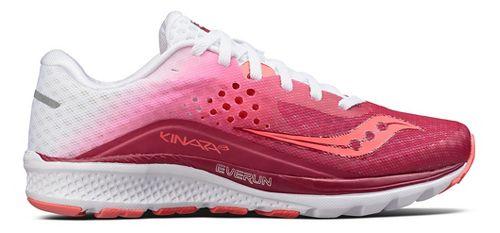 Womens Saucony Kinvara 8 Running Shoe - Berry/White 8.5