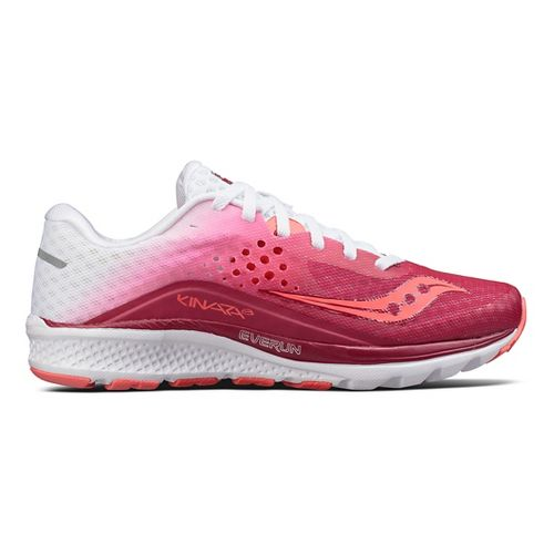 Womens Saucony Kinvara 8 Running Shoe - Berry/White 5.5