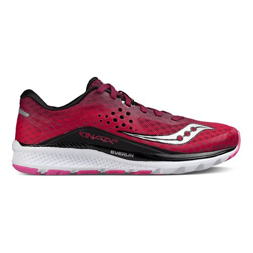 Womens Saucony Kinvara 8 Running Shoe - Berry/Pink 10.5
