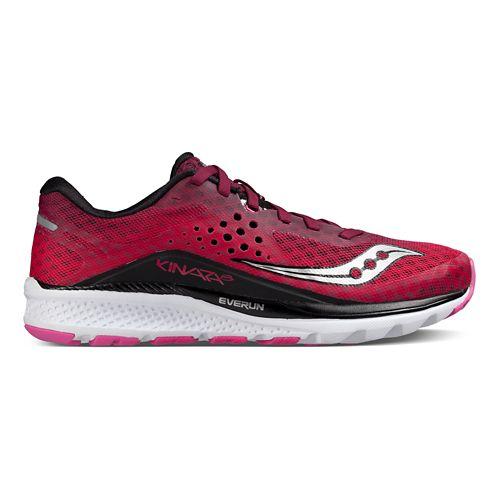Womens Saucony Kinvara 8 Running Shoe - Berry/Pink 8.5