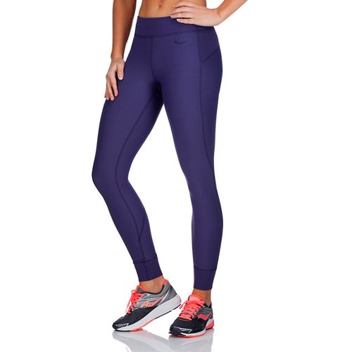 Womens Saucony Ignite Tights & Leggings Pants - Indigo Heather S