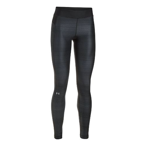 Womens Under Armour HeatGear (Printed) Tights & Leggings Pants - Black L