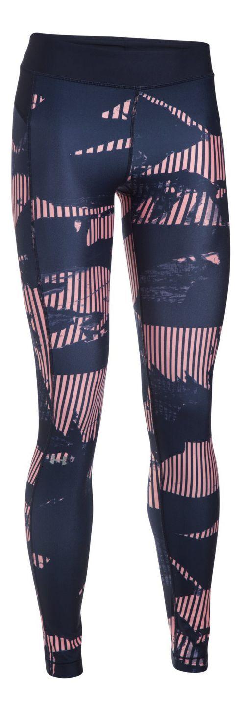 Womens Under Armour HeatGear (Printed) Tights & Leggings Pants - Pink Sands L