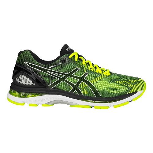 Mens ASICS GEL-Nimbus 19 Running Shoe - Black/Safety Yellow 8