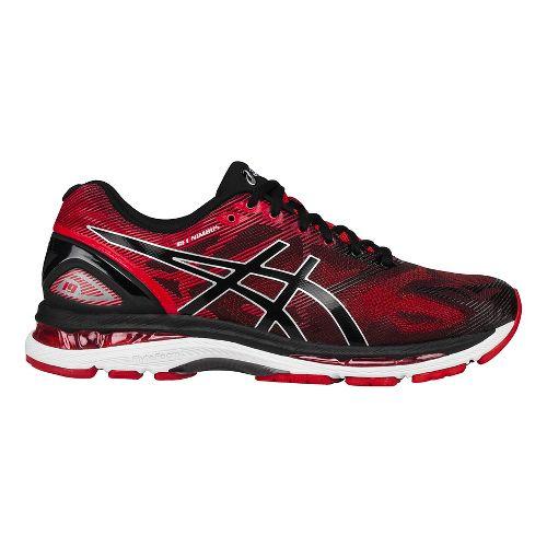 Mens ASICS GEL-Nimbus 19 Running Shoe - Black/Vermilion 8.5