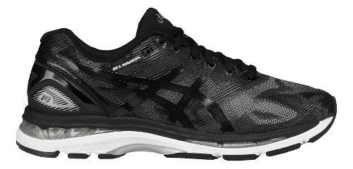 Mens ASICS GEL-Nimbus 19 Running Shoe - Black/Grey 10