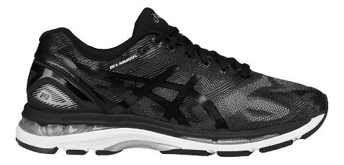 Mens ASICS GEL-Nimbus 19 Running Shoe - Black/Grey 15