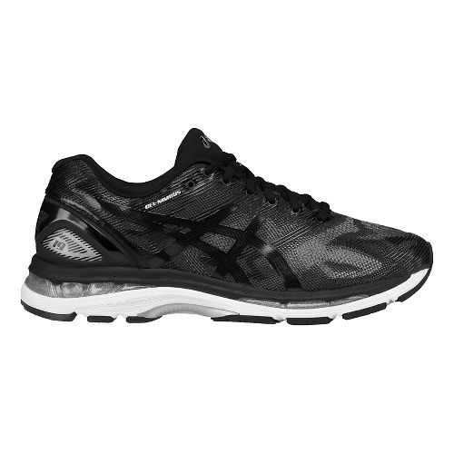 Mens ASICS GEL-Nimbus 19 Running Shoe - Black/Grey 14