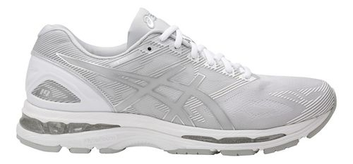 Mens ASICS GEL-Nimbus 19 Running Shoe - Grey/White 8