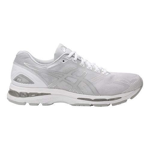 Mens ASICS GEL-Nimbus 19 Running Shoe - Grey/White 8