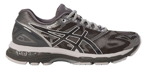 Mens ASICS GEL-Nimbus 19 Running Shoe - Grey/Silver 14