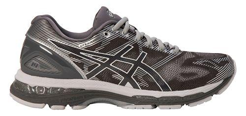 Mens ASICS GEL-Nimbus 19 Running Shoe - Grey/Silver 9