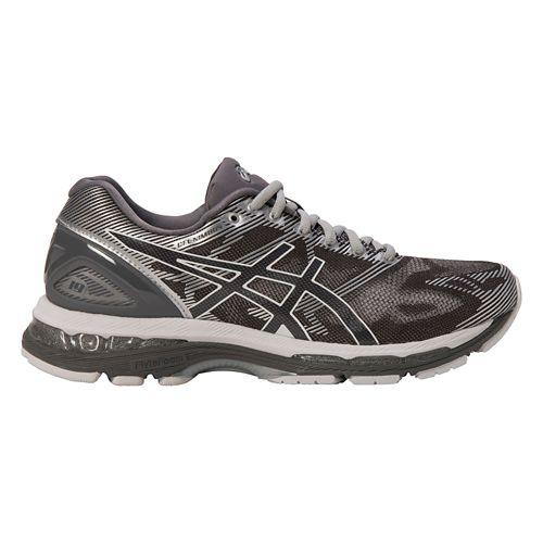 Mens ASICS GEL-Nimbus 19 Running Shoe - Grey/Silver 12.5