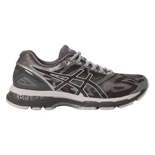 Mens ASICS GEL-Nimbus 19 Running Shoe - Grey/Silver 8.5