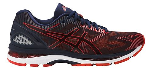 Mens ASICS GEL-Nimbus 19 Running Shoe - Red/Navy 9