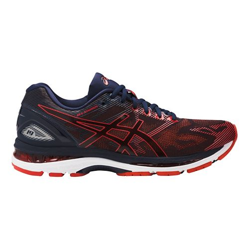 Mens ASICS GEL-Nimbus 19 Running Shoe - Red/Navy 10