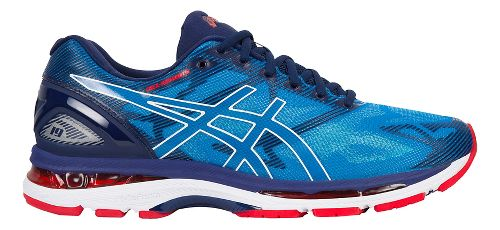 Mens ASICS GEL-Nimbus 19 Running Shoe - Blue/White 8.5