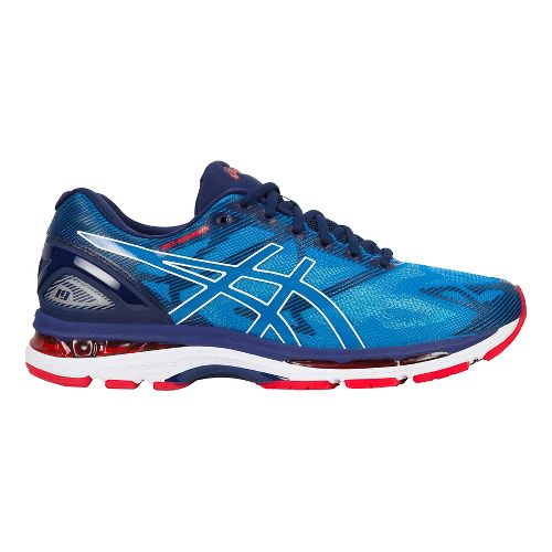 Mens ASICS GEL-Nimbus 19 Running Shoe - Blue/White 12.5