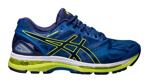 Mens ASICS GEL-Nimbus 19 Running Shoe - Blue/Yellow 8.5