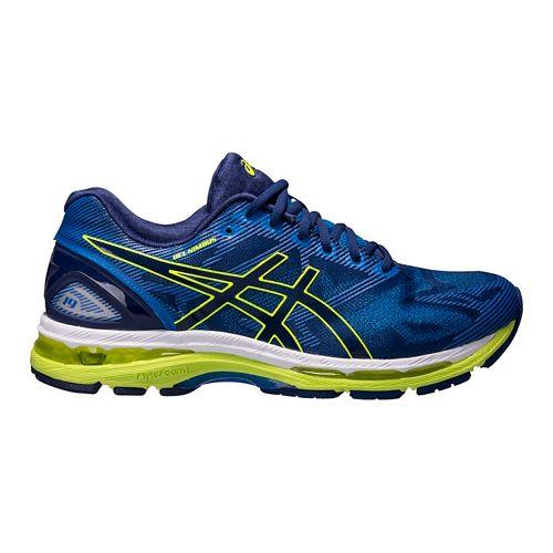 Mens ASICS GEL-Nimbus 19 Running Shoe - Blue/Yellow 16