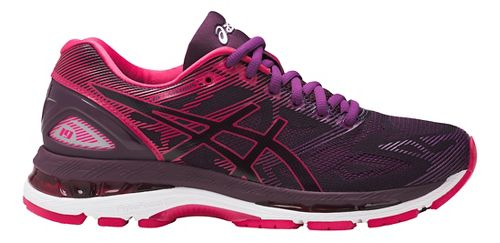 Womens ASICS GEL-Nimbus 19 Running Shoe - Pink/Purple 7.5