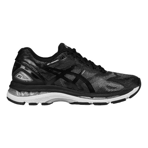 Womens ASICS GEL-Nimbus 19 Running Shoe - Black/Grey 10