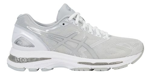 Womens ASICS GEL-Nimbus 19 Running Shoe - White/Silver 5.5