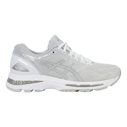 Womens ASICS GEL-Nimbus 19 Running Shoe - White/Silver 8