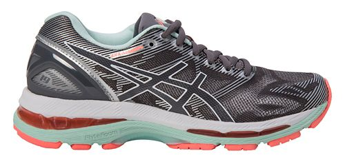 Womens ASICS GEL-Nimbus 19 Running Shoe - Grey/Coral 7.5