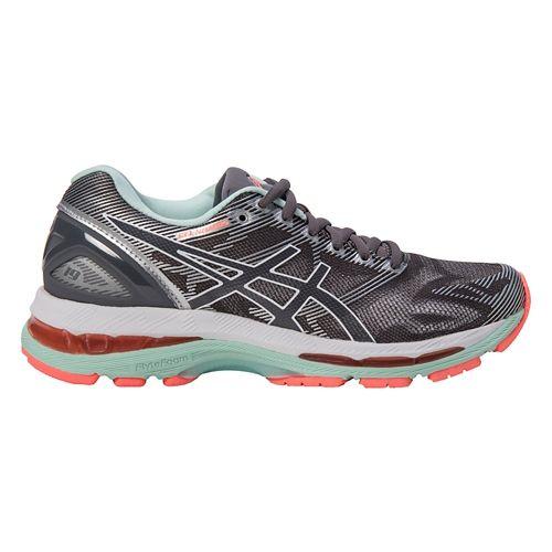 Womens ASICS GEL-Nimbus 19 Running Shoe - Grey/Coral 8.5