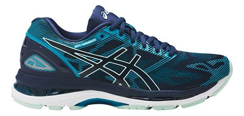 Womens ASICS GEL-Nimbus 19 Running Shoe - Glacier Blue/White 7.5