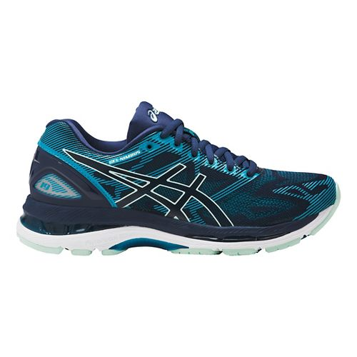 Womens ASICS GEL-Nimbus 19 Running Shoe - Glacier Blue/White 11