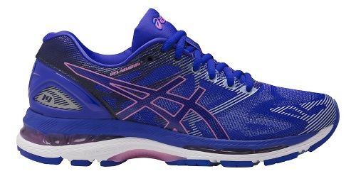 Womens ASICS GEL-Nimbus 19 Running Shoe - Blue/Purple 9