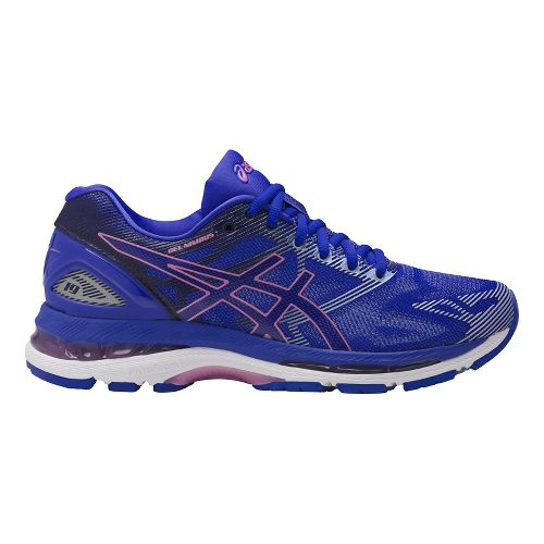 Womens ASICS GEL-Nimbus 19 Running Shoe - Blue/Purple 10.5