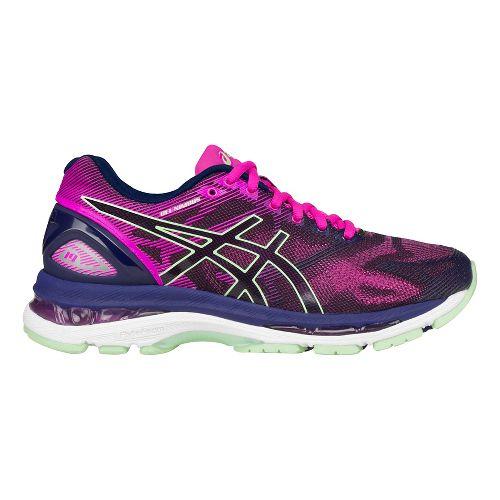 Womens ASICS GEL-Nimbus 19 Running Shoe - Blue/Green 6