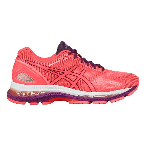 Womens ASICS GEL-Nimbus 19 Running Shoe - Coral/Purple 11.5