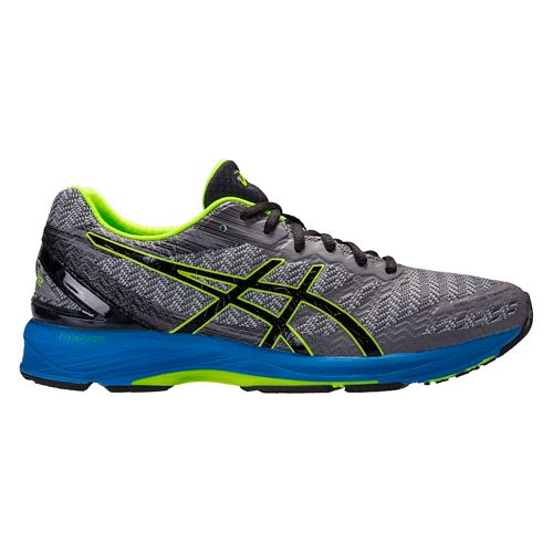 Mens ASICS GEL-DS Trainer 22 Running Shoe - Grey/Blue 8.5