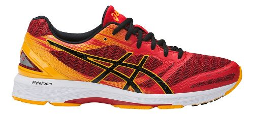 Mens ASICS GEL-DS Trainer 22 Running Shoe - Red/Gold 11