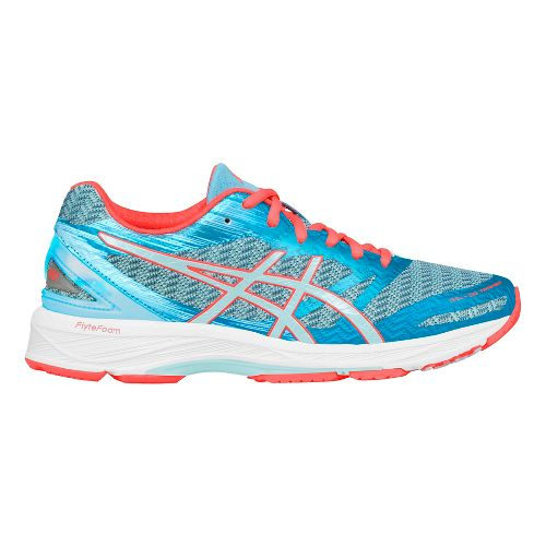 Womens ASICS GEL-DS Trainer 22 Running Shoe - Aqua/Coral 10.5