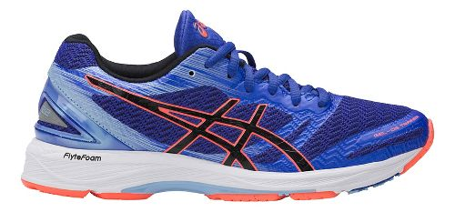 Womens ASICS GEL-DS Trainer 22 Running Shoe - Blue/Coral 9.5