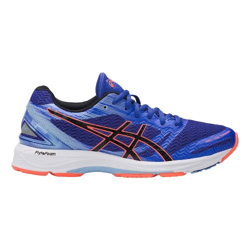 Womens ASICS GEL-DS Trainer 22 Running Shoe - Blue/Coral 8.5
