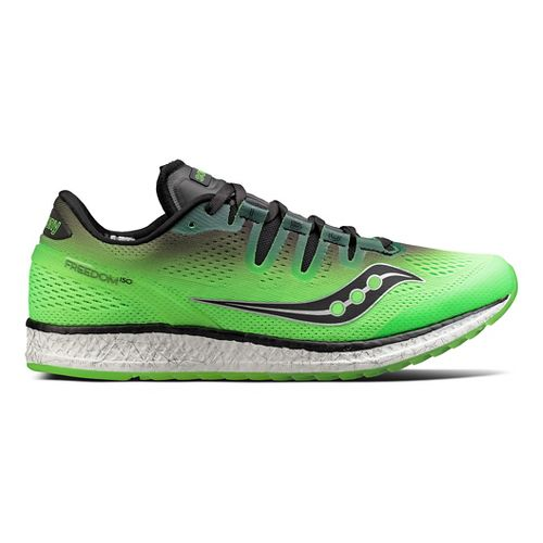 Mens Saucony Freedom ISO Running Shoe - Slime/Black 10.5