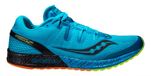 Mens Saucony Freedom ISO Running Shoe - Blue/White 14