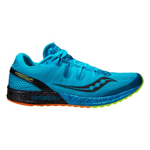 Mens Saucony Freedom ISO Running Shoe - Blue 8