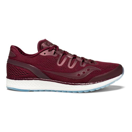Mens Saucony Freedom ISO Running Shoe - Burgundy 11