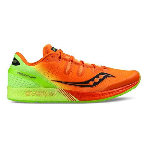 Mens Saucony Freedom ISO Running Shoe - Orange Citron 11.5